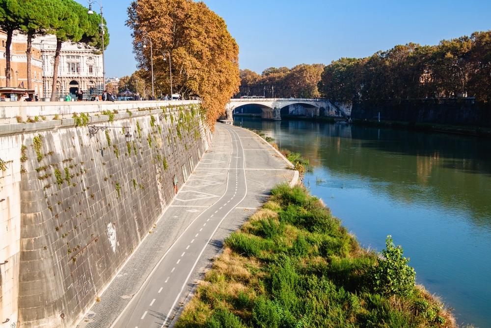 Radfahren Tiber Rom